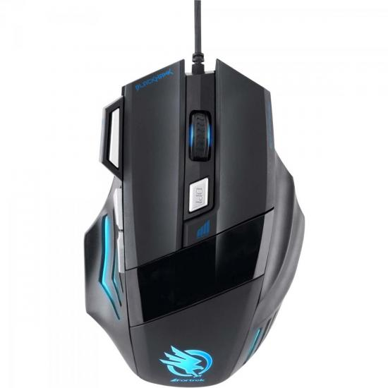 Mouse Gamer Fortrek Óptico USB Black Hawk OM703