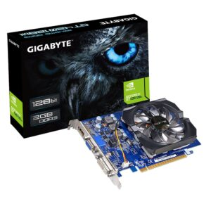 Placa de Vídeo Gigabyte GeForce GT 420 2GB DDR3 128-Bits PCI Express 2.0 rev.3.0 - GV-N420-2GI