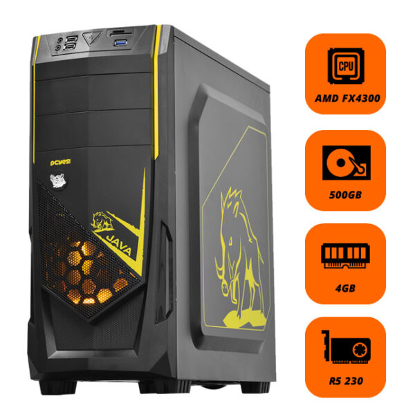 PC Gamer LOL AMD FX 4300 Mem 4GB HD 500GB MB H110M-HG4-90 VGA R5 230 2GB