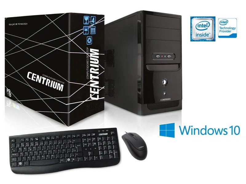 COMPUTADOR DESKTOP WINDOWS CENTRIUM (66655-3) THINTOP 3050 INTEL DUAL CORE N3050 1.6GHZ 4GB 120GB WINDOWS 10